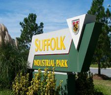 Suffolk Industrial Park sign