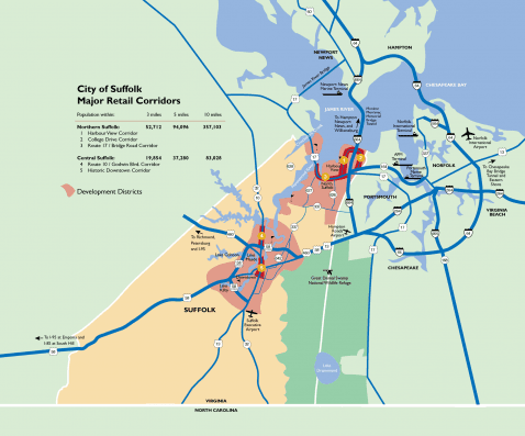 City of Suffolk Major Retail Corridors
